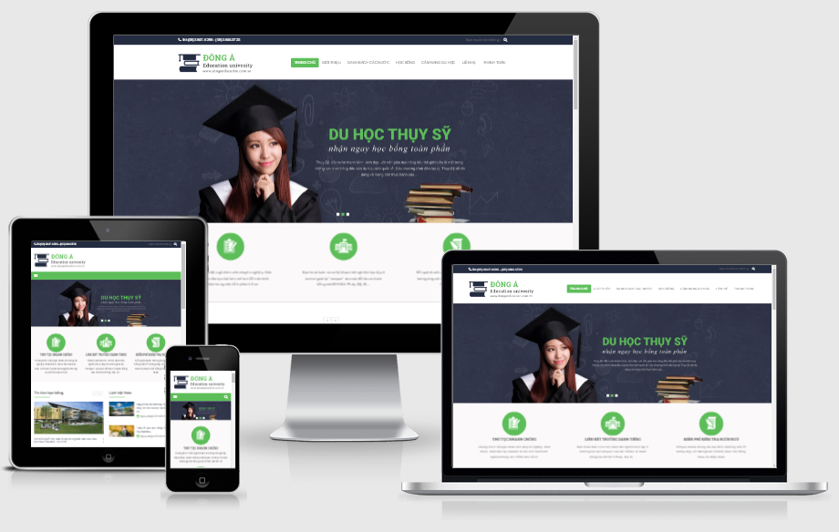 thiết kế website du học chuẩn SEO tại hải phòng
