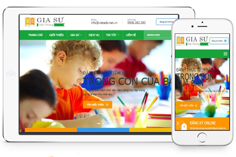 mẫu website trung tâm gia sư chuyên nghiệp