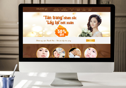 mẫu website spa