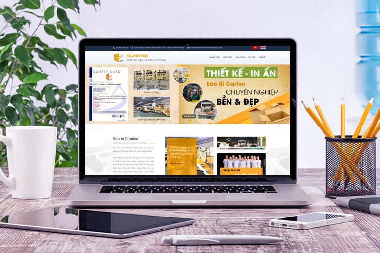 thiết kế web giới thiệu công ty chuẩn SEO tại Quảng Ninh
